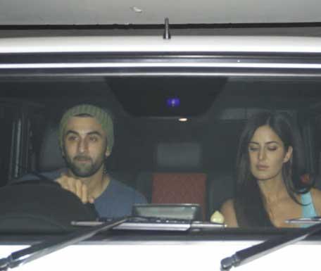 Ayan Mukherjee, Ranbir Kapoor and Katrina Kaif watch Brothers
