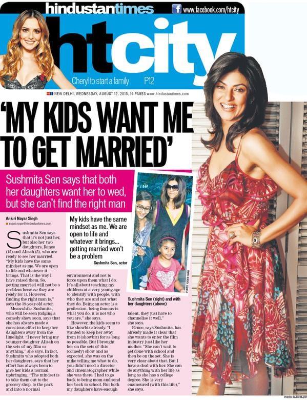Sushmita Sen says her kids wants her to get married