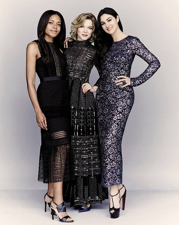 Monica Bellucci, Lea Seydoux and Naomie Harris on Rhapsody Magazine
