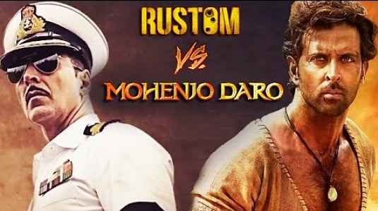 Akshay's Rustom wins the box office battle compared to Hrithik's Mohenjo Daro