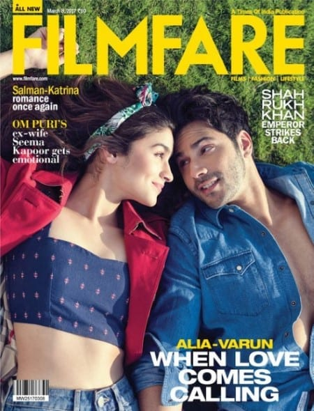 Varun Dhawan and Alia Bhatt on Filmfare Magazine