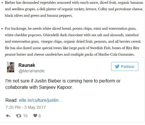 Justin Bieber couldn't care less about Bollywood stars