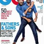 Anil Kapoor and his son, Harshvardhan Kapoor on GQ Magazine