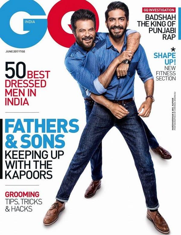 Anil Kapoor and Harshvardhan Kapoor on GQ Magazine