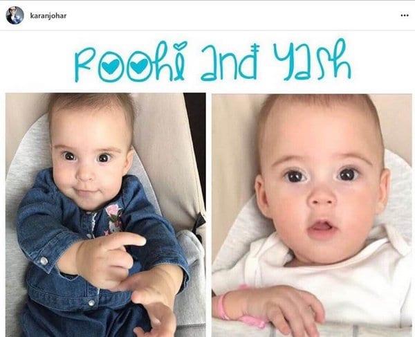 Karan Johar's kids are also white