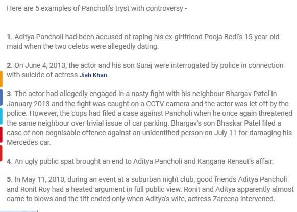 Aditya Pancholi thinks Kangana Ranaut is crazy