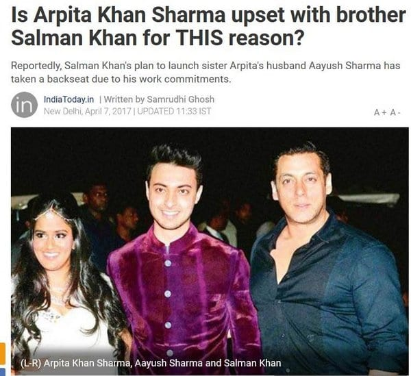 Salman Khan officially confirms the launch of his brother-in-law