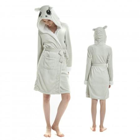 Adult Hippo Bathrobe Supper Soft Plush Hooded Robe For