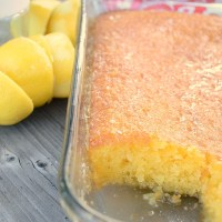 5 Minute Lemon Cooler Cake