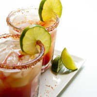 The life changing Spicy Michelada: A Red Beer with Hot Sauce, Lime and a Zesty Salted Rim