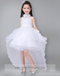 Strapless Pink White Princess Party Fluffy Dress ...