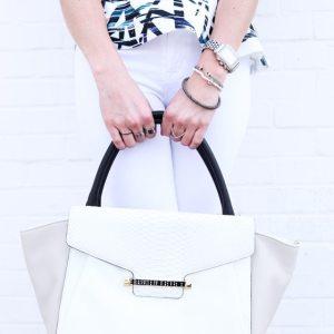 Vince Camuto white bag