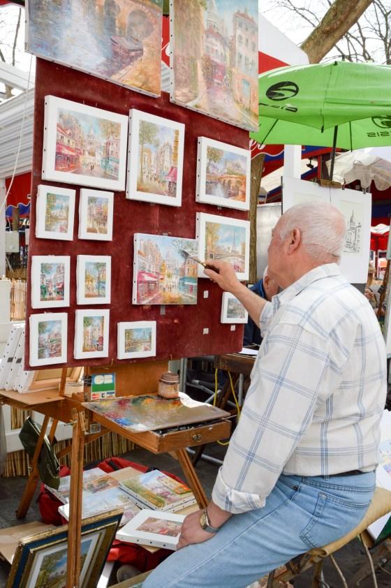 painter in Montmartre