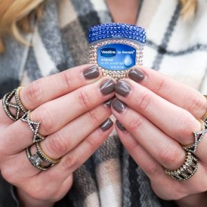 BaubleBar Bejeweled Vaseline Lip Therapy Original Jar-Regent Ring Quad-chunky gold rings baublebar-dallas fashion blogger