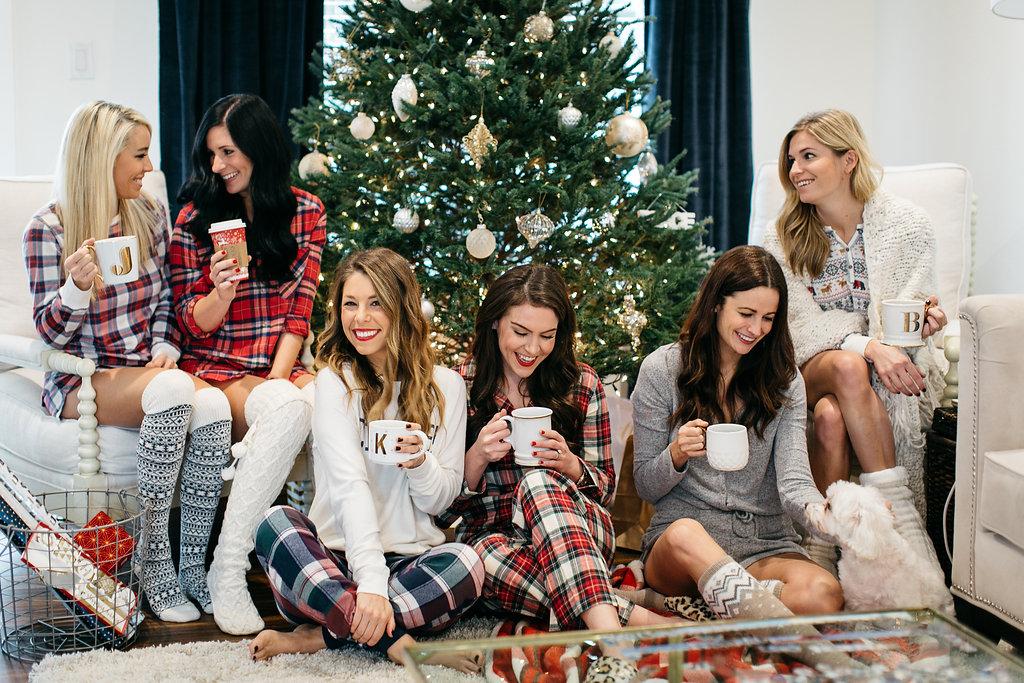Christmas pajama party girls night holiday pajama party ideas