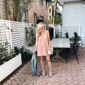 free people dress, blush suede dress, brooke burnett, dallas fashion blogger
