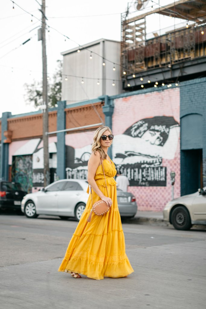 yellow spring color trend 2017, yellow maxi dress