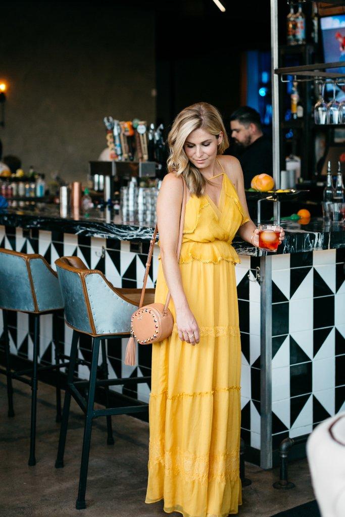 stirr dallas, deep ellum dallas, yellow ruffle dress