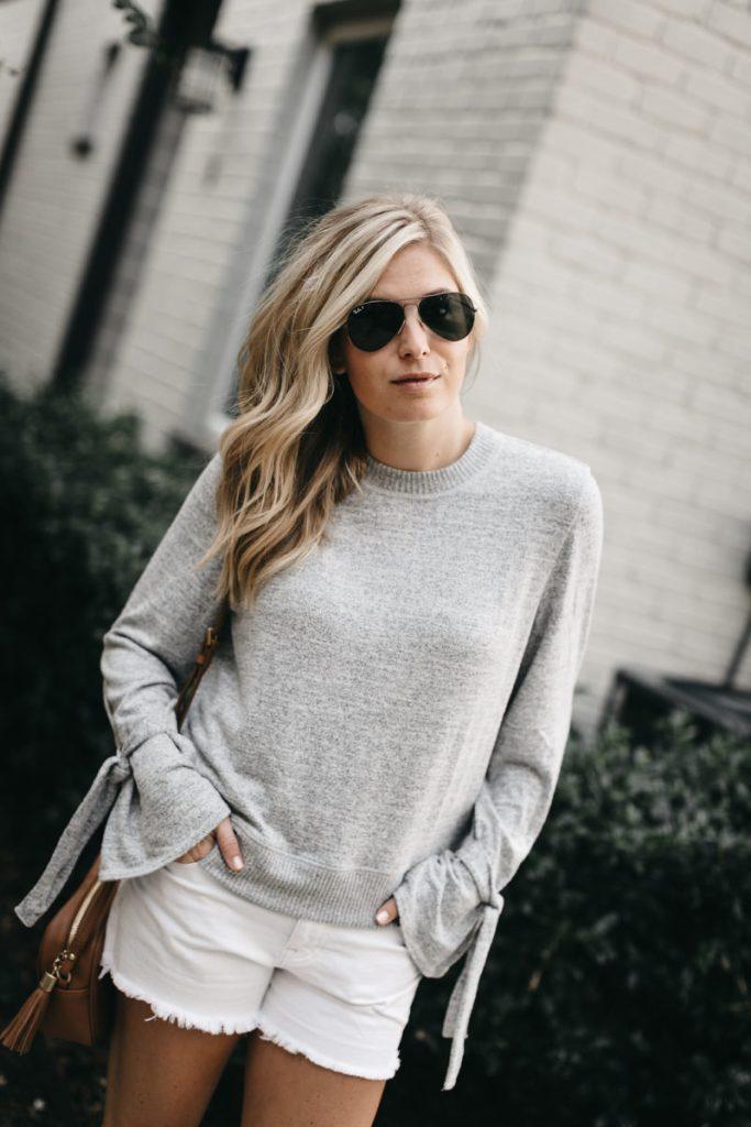 abercrombie tie sleeve sweater