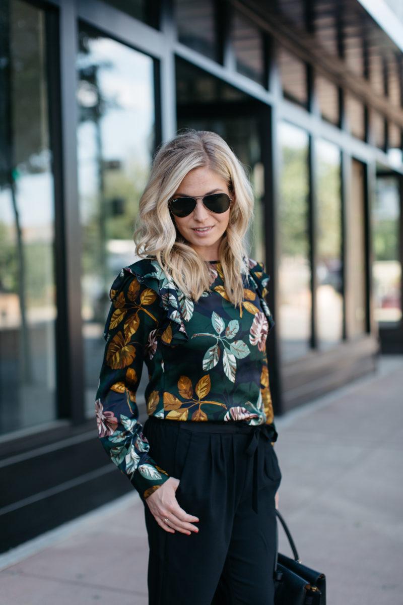 fashion blogger, one small blonde, dress pants
