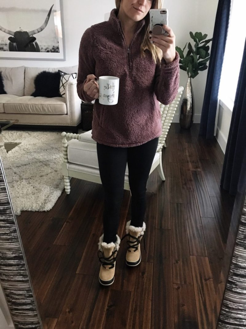 boots, coffee, cold weather