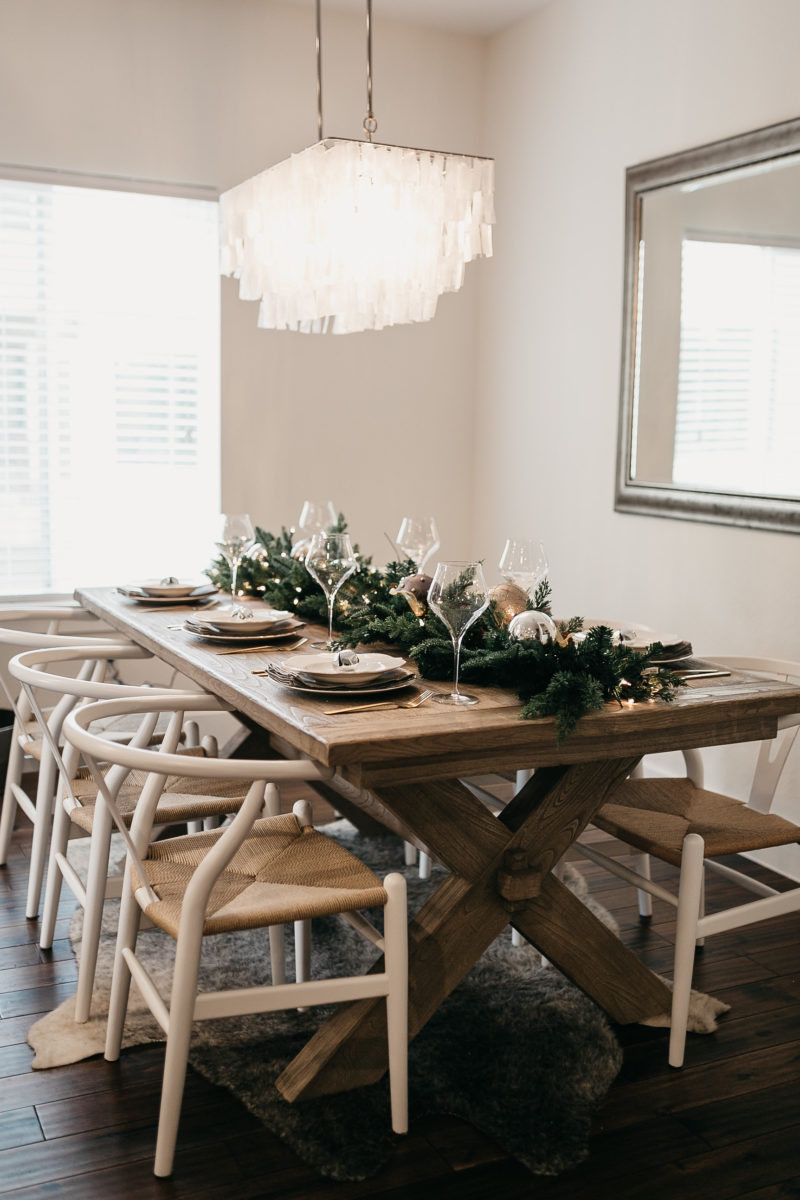 dining room table, dallas kitchen, trendy light fixture