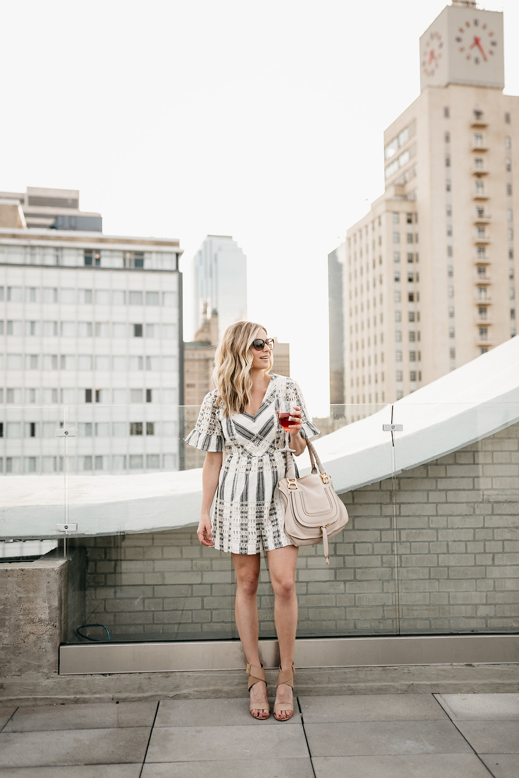 striped eyelet romper, the statler dallas, summer rompers, striped rompers