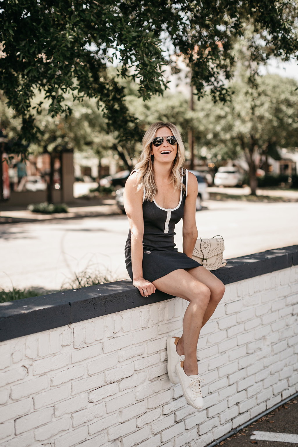 One Small Blonde - UO Thermal Button-Down Tank Top Dress