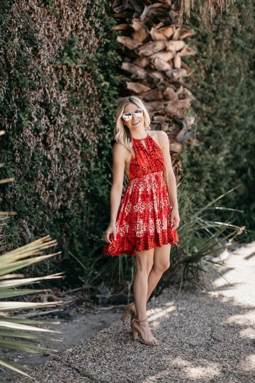 One Small Blonde - Red Beach Day Minidress - Free People