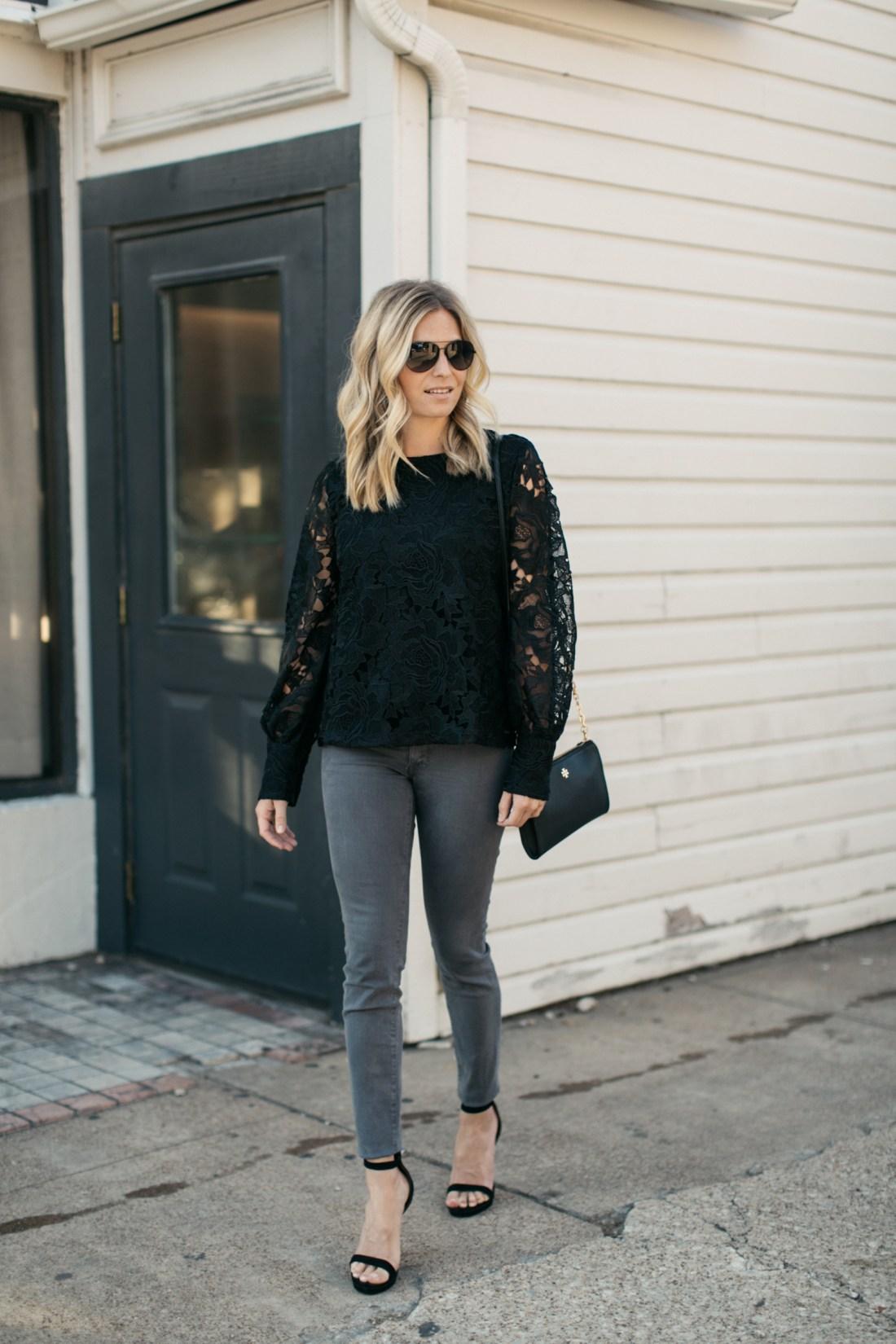 Lace Blouse HALOGEN® Regular & Petite