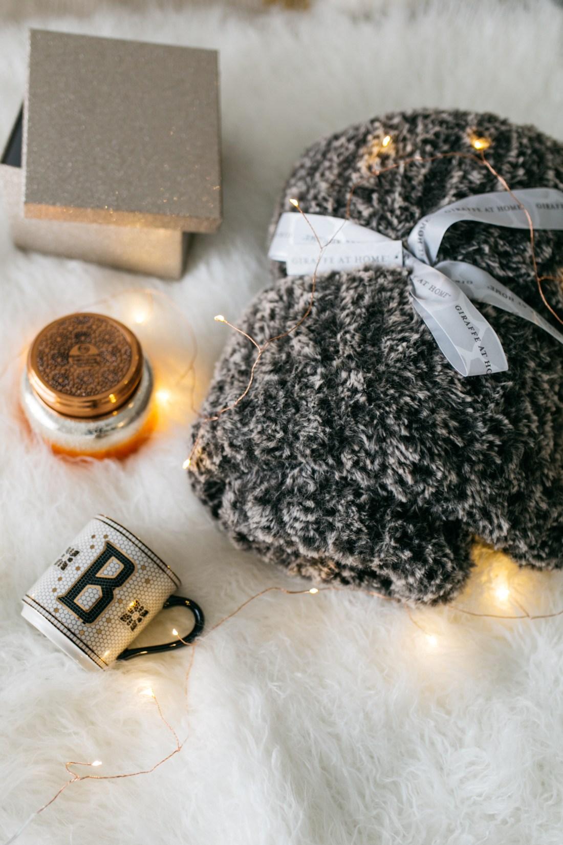 Giveaway - DAY 3: Little Giraffe blanket + initial coffee mug + Capri Blue candle