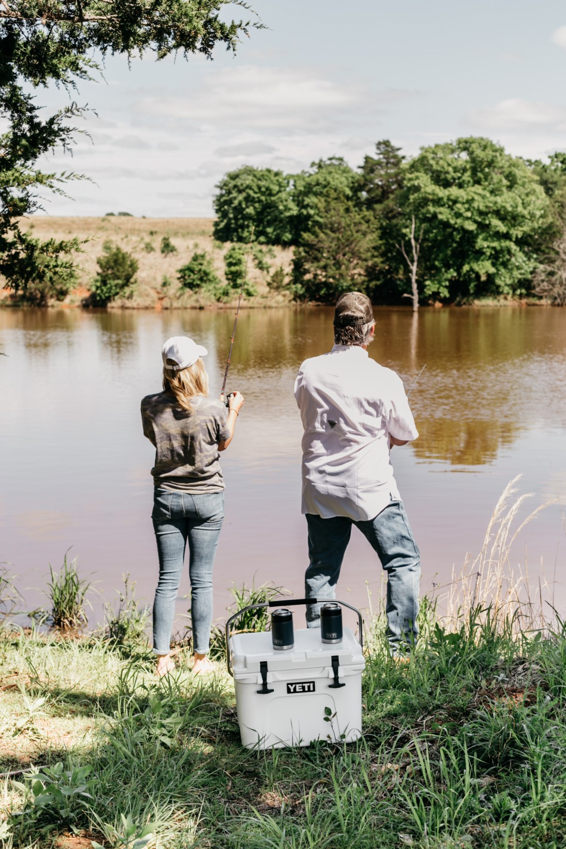 FATHER'S DAY GIFTS - Yeti cooler and can holders - One Small Blonde Blog