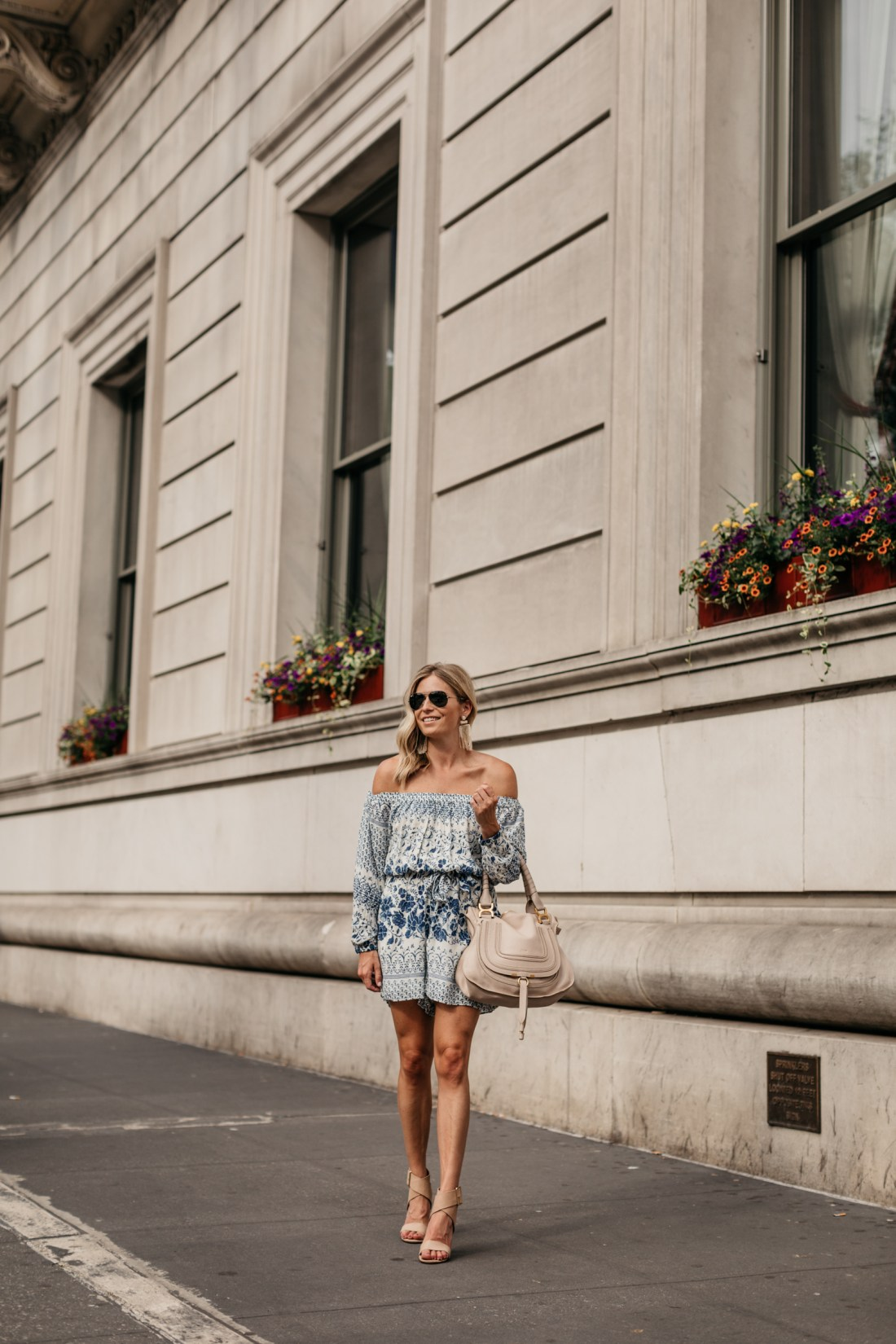 blue romper 4th of july outfits