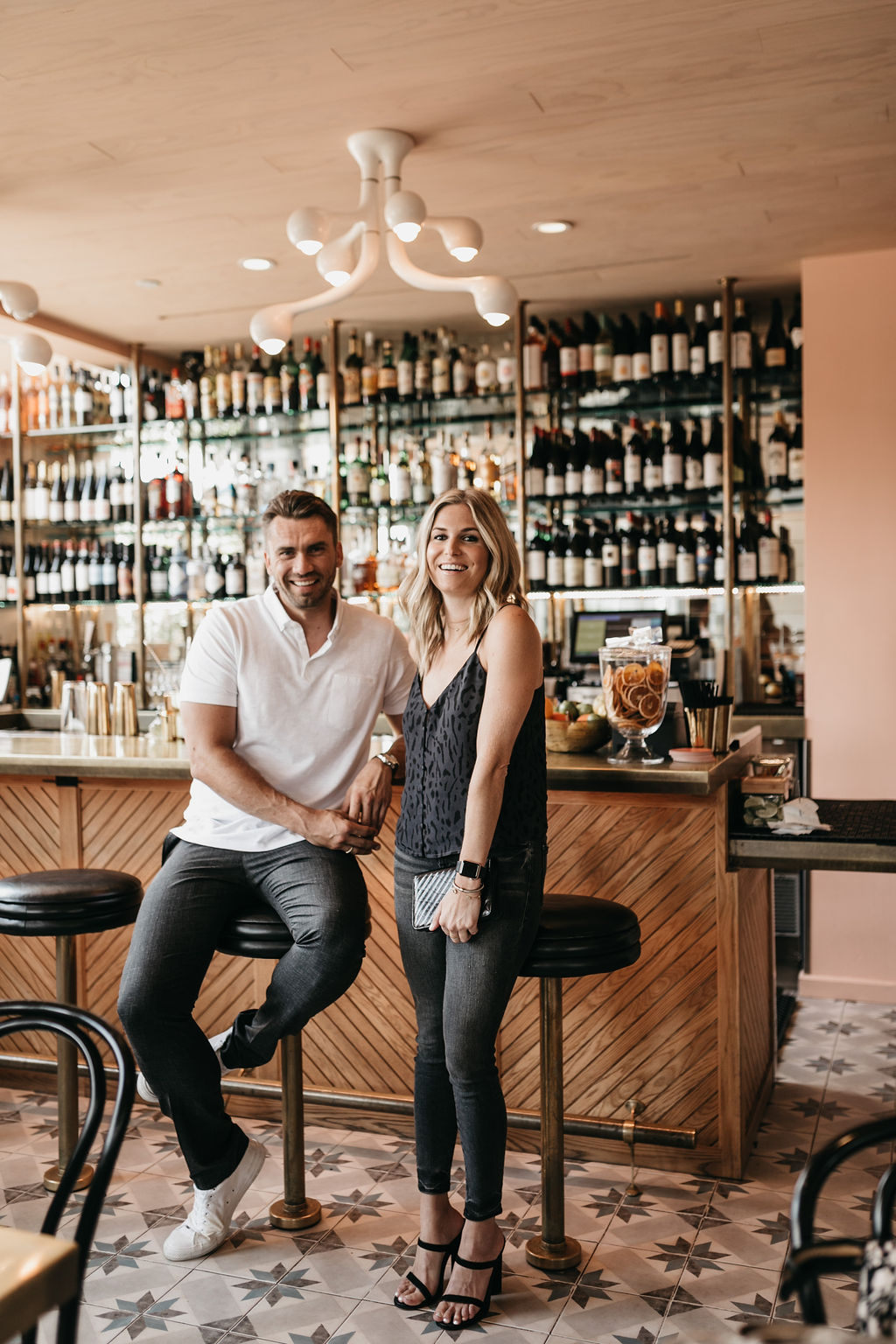 dating app gossip at a bar with two humans
