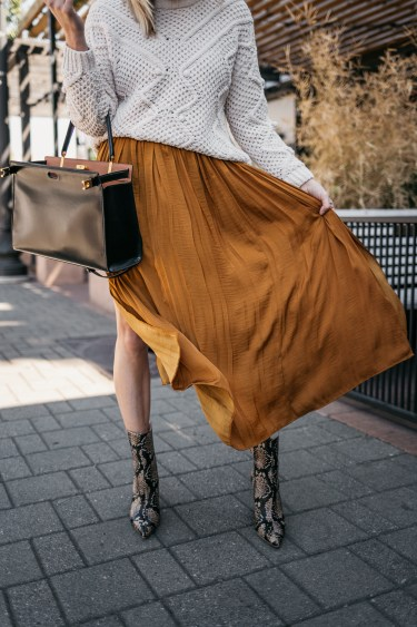 sweater over COPPER DRESS