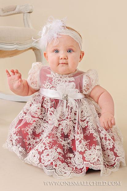 Ella Silk & Lace Dress | Baby Holiday One Small Child