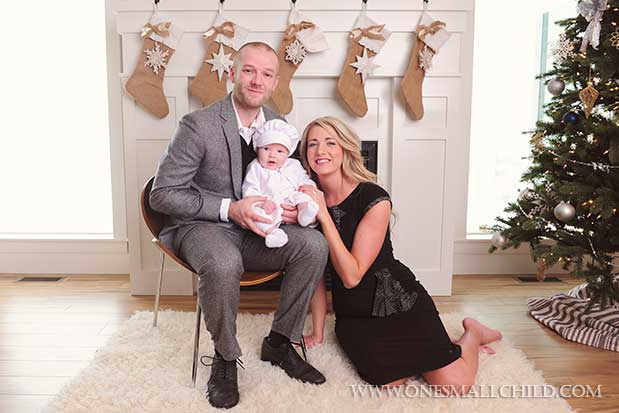 Christmas Christening Family Pictures | One Small Child