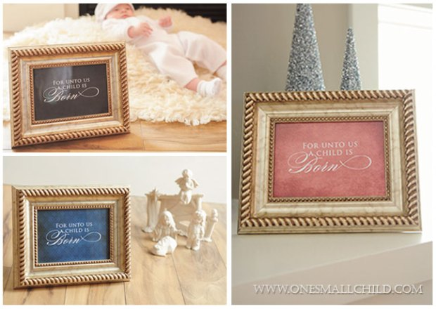 Framed For Unto Us Options | Free Christmas Printables at One Small Child
