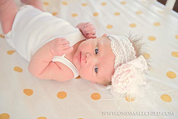 Pink Lace Rosette Headband | Nellies Nursery - One Small Child