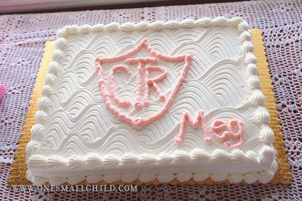 Meg's LDS Baptism | CTR Cake