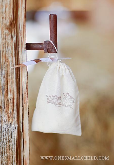 Bird Muslin Favor Bags