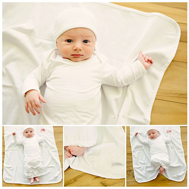 Boys Bamboo Layette Gowns | One Small Child