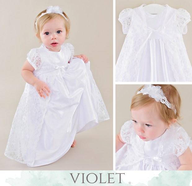 Violet LDS Blessing Dress