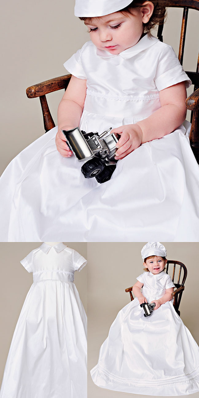 William Silk Christening Gown by One Small Child