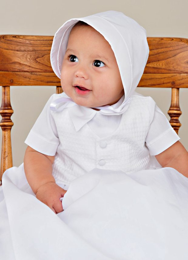 Stefan Cotton Christening Gown for Boys