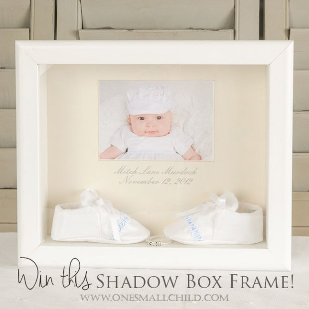 Shadow Box Frame   Christening Gifts
