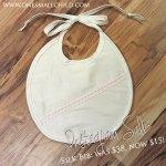 Instagram Sale: Gorgeous Silk Christening Bibs #onesmallchild