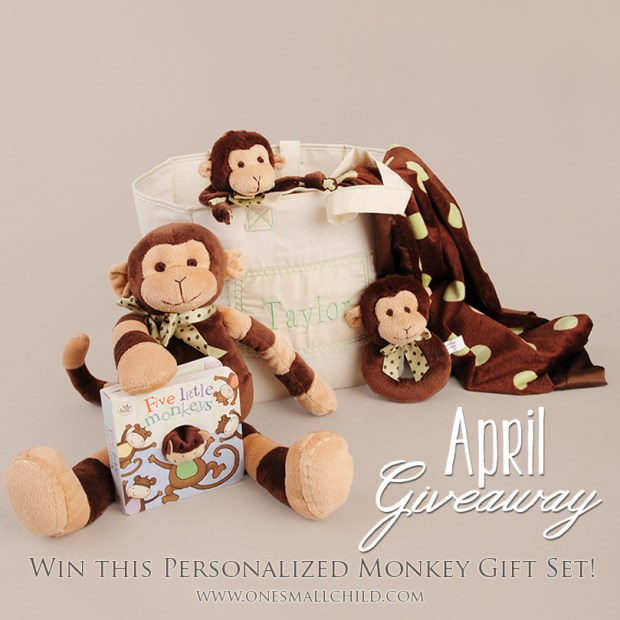Personalized Baby Gifts | One Small Child April Giveaway