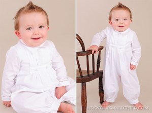 Daniel Cotton Christening Romper