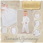November Giveaway   Christening Gowns and Outfits by One Small Child